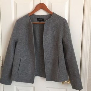 Talbots soft grey double faced unlined JACKET